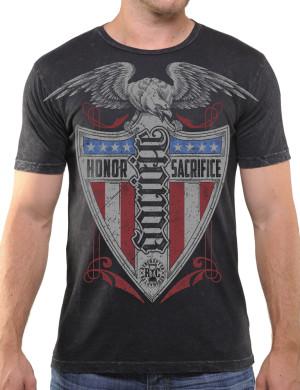 Pánské tričko Red Chapter Honor/Sacrifice – Čest/Obětování