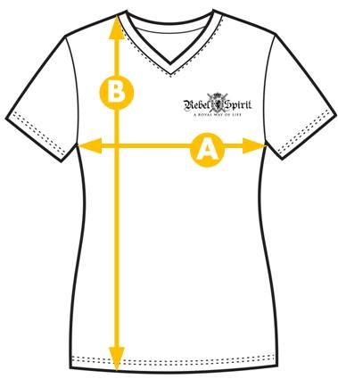 Rebel Spirit velikost tričko s krátkým rukávem