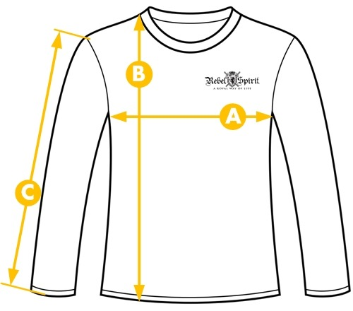 Rebel Spirit velikost tričko dlouhý rukáv