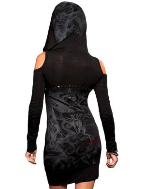 Dámské šaty Rebel Spirit srdce se zámkem