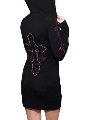 Dámské šaty Rebel Spirit diamantový kříž