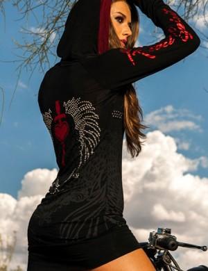 Dámské šaty Rebel Spirit srdce s křídly