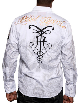 Pánská košile Rebel Spirit ozdobné lebky