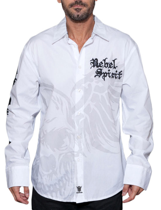 Pánská košile Rebel Spirit okřídlená lebka ... 505e233ec3