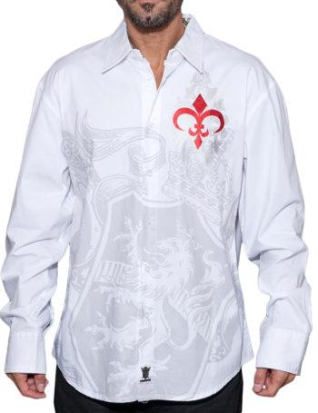 Pánská košile Rebel Spirit královský lev (bílá)