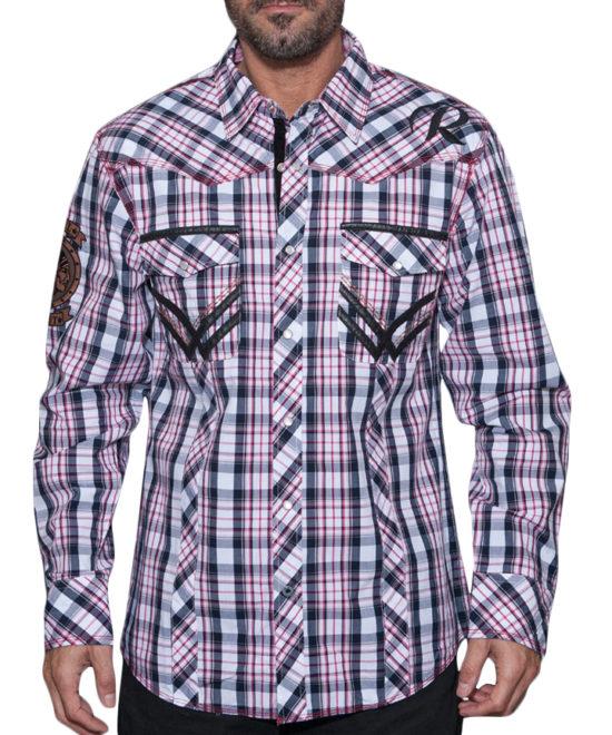 Pánská košile Rebel Spirit kostka Indians ... a806f30710