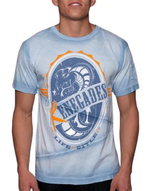Pánské tričko Rebel Spirit kobra renegát (světle modré)
