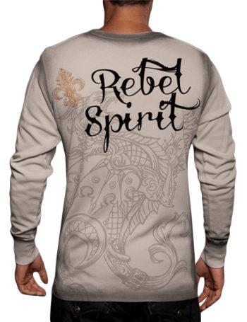 Pánské tričko Rebel Spirit hřejivé mořský kůň s dračí hlavou