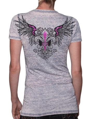 Dámské tričko Rebel Spirit velká lilie s orlicí