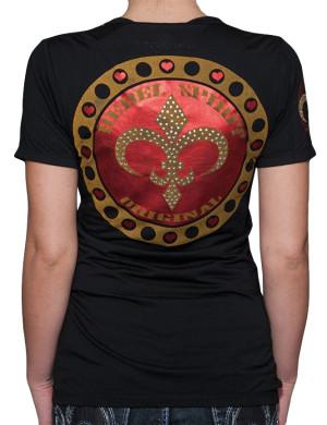 Dámské tričko Rebel Spirit lilie Original (černé)