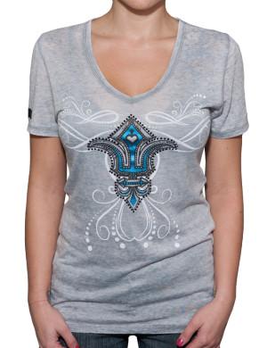 Dámské tričko Rebel Spirit lilie s klíči