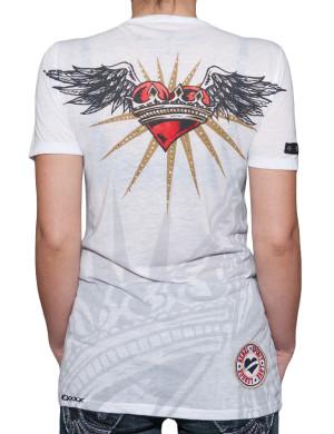 Dámské tričko Rebel Spirit létající srdce s korunou