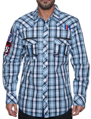 Pánská košile Rebel Spirit kostka Navy