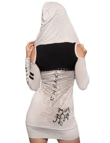 Dámské šaty Rebel Spirit květ lilie s křídly (stříbrné)
