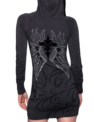 Dámské šaty Rebel Spirit Moje křídla (tmavě šedé)