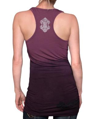 Dámské šaty Rebel Spirit dvojitá lilie (burgundy)