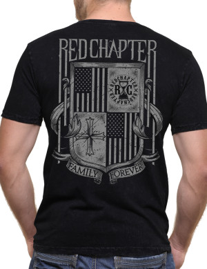Pánské tričko Red Chapter Family/Forever - Rodina/Navždy (černé)