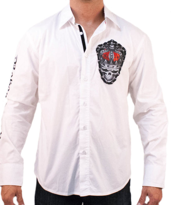 Pánská košile Rebel Spirit královský démon (bílá) ... 5709f2e53e