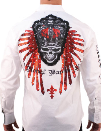Pánská košile Rebel Spirit královský démon (bílá)