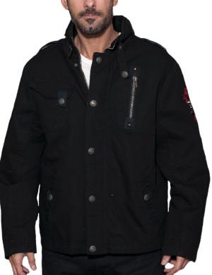 Pánská bunda Rebel Spirit orlice se štítem (černá)