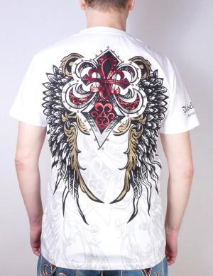 Pánské tričko Rebel Spirit královská lilie s křídly