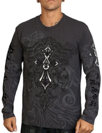 Pánské tričko Rebel Spirit ozdobný kříž