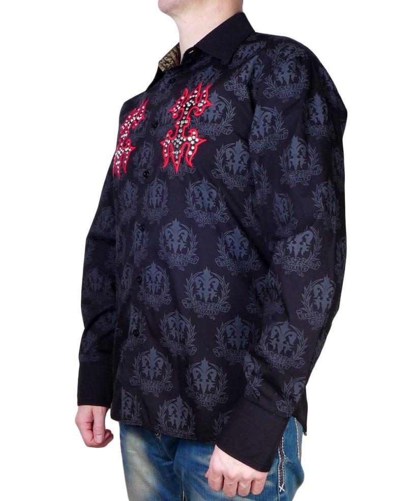 Pánská černá košile Rebel Spirit královský diamant 1c57182766