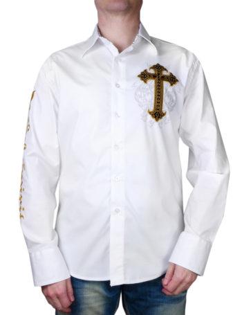 Pánská košile Rebel Spirit kříž s křídly