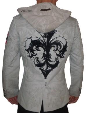 Pánské sako Rebel Spirit černá lilie s kapucí