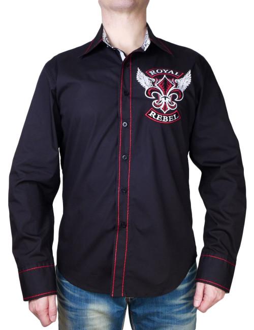 Pánská košile Rebel Spirit Royal Rebel lilie s křídly
