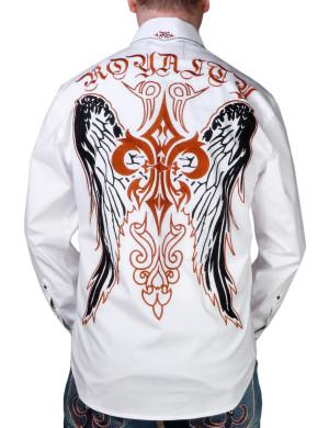 Pánská košile Rebel Spirit královská lilie s křídly (bílá)