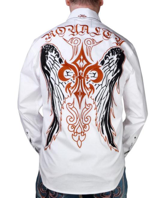 ... Pánská košile Rebel Spirit královská lilie s křídly (bílá) b5ee3a3414
