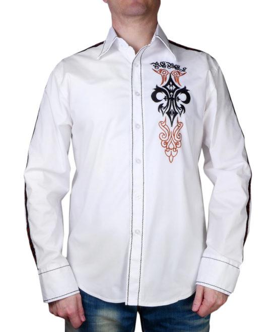 Pánská košile Rebel Spirit královská lilie s křídly (bílá) ... bf4ca06f1a
