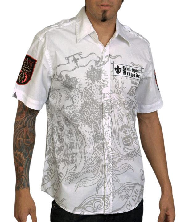 Pánská košile Rebel Spirit Brigade (bílá)