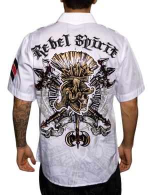 Pánská košile Rebel Spirit římský bojovník (bílá)
