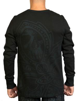 Pánské tričko Rebel Spirit zlatý znak lilie (hřejivé)