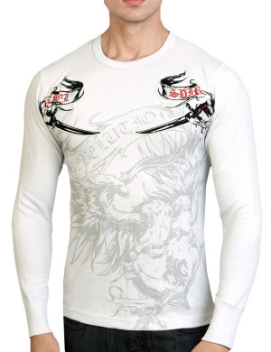 Pánské tričko Rebel Spirit orel s dýkou (hřejivé)
