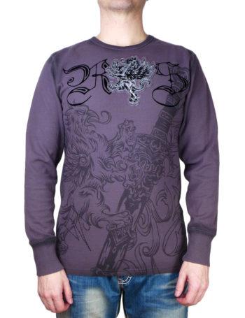 Pánské tričko Rebel Spirit bájný Gryf s mečem (hřejivé)