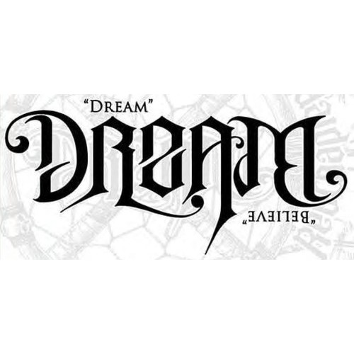 Ambigram Dream - Believe