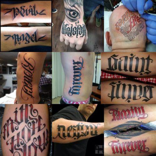 Tetování motivy - ambigramy