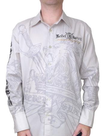 Pánské košile lev vladař LSW121290-GREY