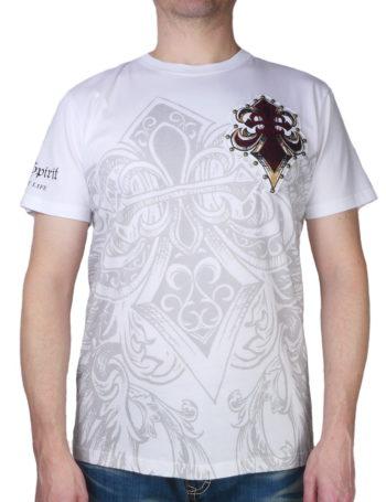 Pánské tričko Rebel Spirit královská lilie s křídly SSK151691-WHT