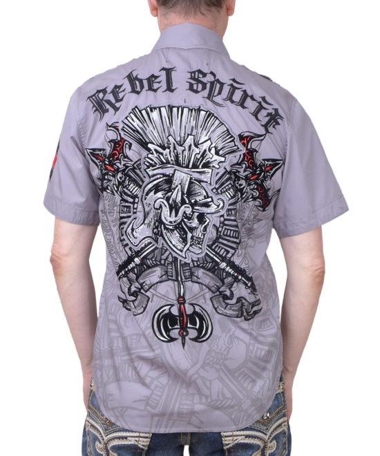 Pánská košile Rebel Spirit římský bojovník (šedá) a49c70c55a
