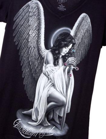 Dámské tričko DG Angel Guardian Angel DGA007-BLK