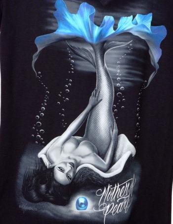 Dámské tričko DG Angels Mother of Pearl DGA008-BLK