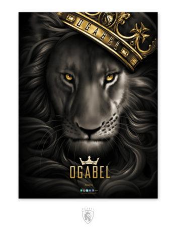 Plakát OG Abel Fierce Lion PST035