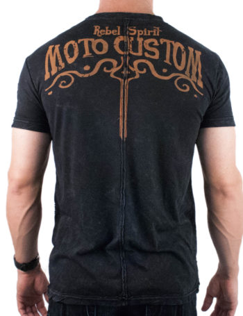 Pánské tričko Rebel Spirit Moto Custom RSSK151690-BLK