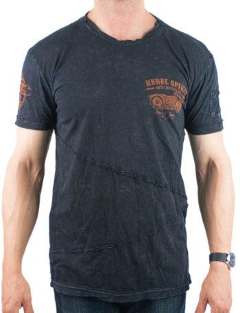 Pánské tričko Rebel Spirit Custom Builders RSSK151697-BLK