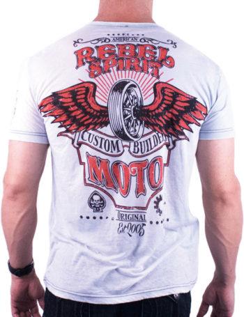 Pánské tričko Rebel Spirit Custom Builders RSSK151698-SLV