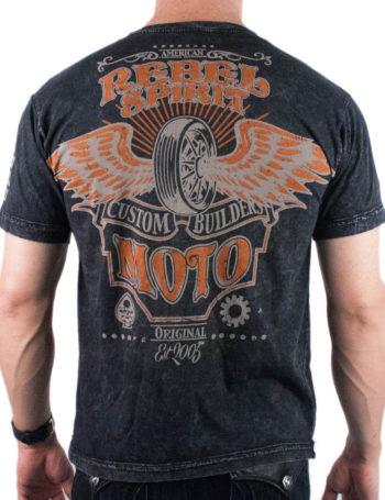 Pánské tričko Rebel Spirit Custom Builders RSSK151699-BLK
